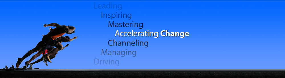 Leading, inspiring, mastering, channeling, managing, driving and accelerating change